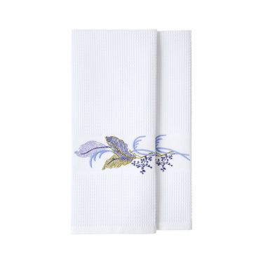 Plumes Set of 2 Guest Towels